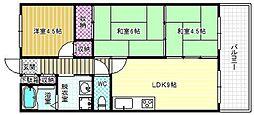 ドリーム松村弐番館[9階]の間取り