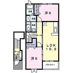 Palazzo・K[B202号室]の間取り