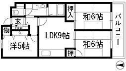 ロックウェルハウス[2階]の間取り