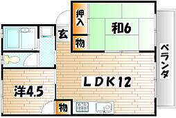 セジュール守恒 B棟[2階]の間取り