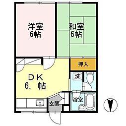 コーポ広戸[2階]の間取り
