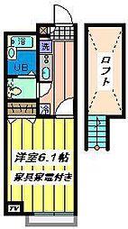 埼玉県川口市栄町2丁目の賃貸アパートの間取り