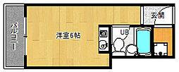 京都府京都市上京区西北小路町の賃貸マンションの間取り