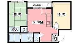兵庫県西宮市平木町の賃貸マンションの間取り
