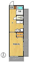 福岡県福岡市早良区祖原の賃貸マンションの間取り