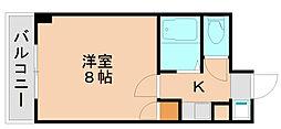 パンルネックスクリスタル箱崎[7階]の間取り