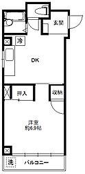 内田マンションン[402号室]の間取り