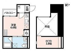 ソラーナ新今里(ソラーナシンイマサト)[2階]の間取り