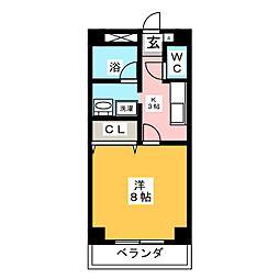NICE・ONE新町[2階]の間取り