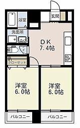 埼玉県戸田市大字新曽の賃貸マンションの間取り