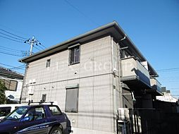 東京都日野市万願寺4丁目の賃貸アパートの外観