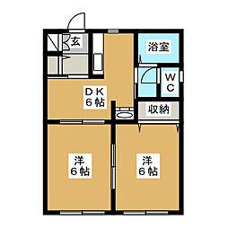 シャーメゾン・ミワ[1階]の間取り