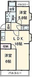 愛知県安城市百石町1丁目の賃貸マンションの間取り