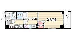 エステムプラザ京都烏丸五条[8階]の間取り