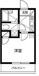 神奈川県横浜市港北区篠原東1の賃貸アパートの間取り