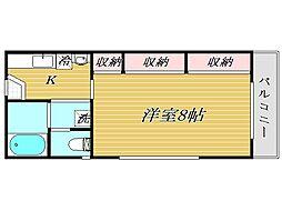 コンフォート北戸田[2階]の間取り