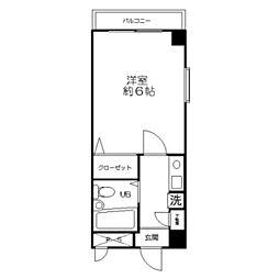 ハイツアオキ第3 bt[509kk号室]の間取り
