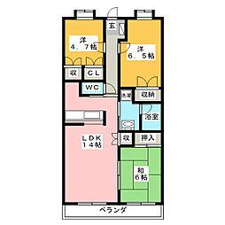 高田レジデンス[3階]の間取り