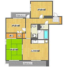 No.2 ARAI Place[4階]の間取り