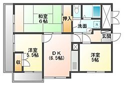 フラワーマンション[4階]の間取り