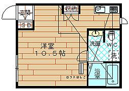 ドエル梅香5[2階]の間取り