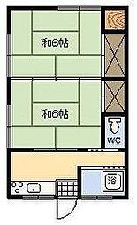 野バラ荘[102号室]の間取り
