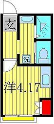 ROSSO高柳[1階]の間取り
