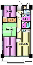 センチュリー浦和[6階]の間取り