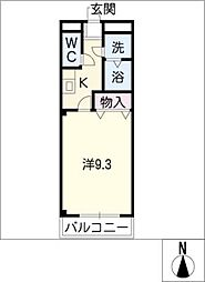 ハッピーヒルズ[2階]の間取り
