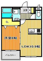 プレステージ嵐山Ⅱ[3階]の間取り