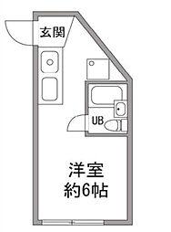 東京都町田市能ヶ谷5丁目の賃貸マンションの間取り