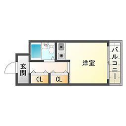 大阪府大阪市平野区加美西2丁目の賃貸マンションの間取り