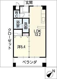 プライムガーデン[2階]の間取り