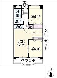クオ−レ古金[1階]の間取り