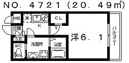 H−maison天下茶屋(アッシュメゾン天下茶屋)[302号室号室]の間取り