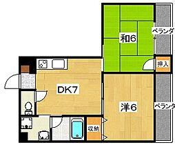 三都荘園[305号室]の間取り