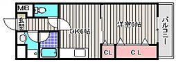 コンフォート23[2階]の間取り