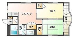 ブラウンハイツV[3階]の間取り