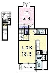 千葉県船橋市行田1丁目の賃貸アパートの間取り