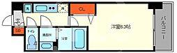 ララプレイス大阪福島アビリテ 7階1Kの間取り