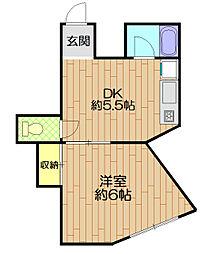 プラザ SUGIHARA[5階]の間取り