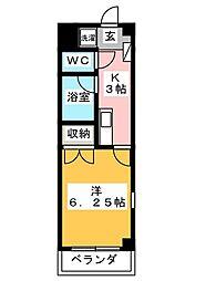 グラン・コンフォール三田[308号室]の間取り