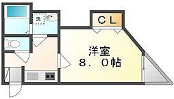 香川県高松市多賀町1丁目の賃貸マンションの間取り