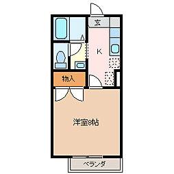 メゾンリセス[2階]の間取り