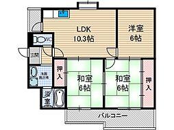 プロスペリティ[4階]の間取り