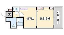 KAISEI新神戸[10階]の間取り