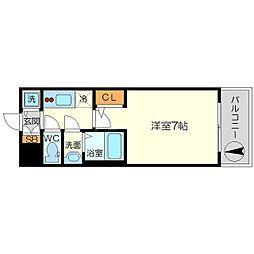 S-RESIDENCE新大阪South 3階1Kの間取り