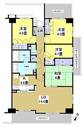 静岡県浜松市中区鴨江2丁目の賃貸マンションの間取り