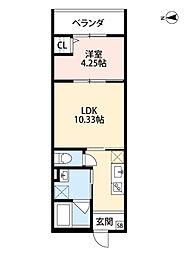 LIEN(リアン)[1階]の間取り