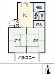 大野ハイツ[2階]の間取り